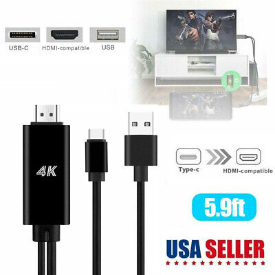 $13.96 • Buy USB-C Type C To HDMI HDTV TV Cable Adapter For Galaxy S10 Note 9 MacBook Samsung