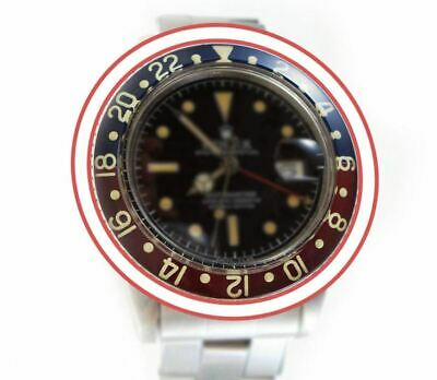 $ CDN526.63 • Buy Replacement Retro Blue Red Luminous Bezel Fit For Rolex GMT Master 6542 Watch
