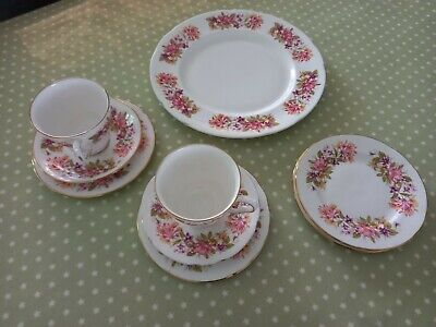 £3 • Buy Vintage China Colclough Wayside Trios, Extra Sides And Sandwich Plate