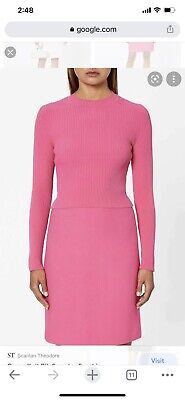 AU150 • Buy Scanlan Theodore Crepe Knit Top Pink Size S Small