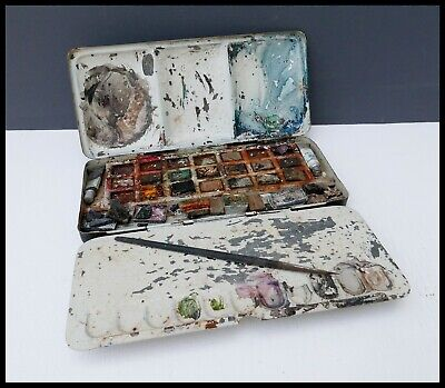 £14.90 • Buy Vintage Reeves Artists Student Colour Box 23 Metal Field Tin Watercolour Pans