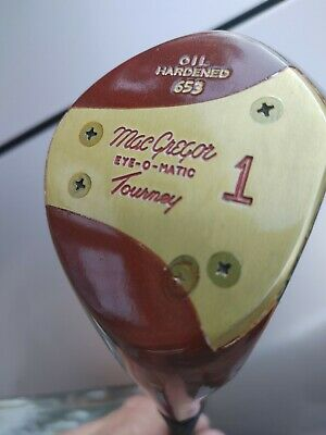 $36.77 • Buy A MacGregor Tommy Armour 653  Oil Hardened  Persimmon Head Driver Dented Shaft