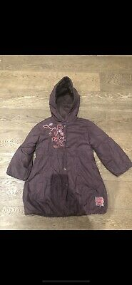 £10 • Buy Marese French Designer Embroidered Thread Puffa Hooded Maroon Coat 5 6 £100 Warm
