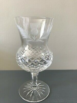 £49.99 • Buy Unusual Etched Decorated Edinburgh Crystal Large Wine Thistle Glass 6 5/8