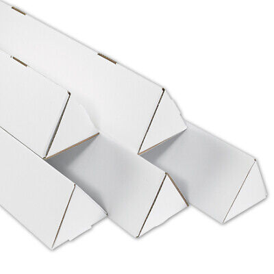 $659.46 • Buy 2 X 18 1/4  White Triangle Mailing Tubes ECT-32B - 500 Pieces