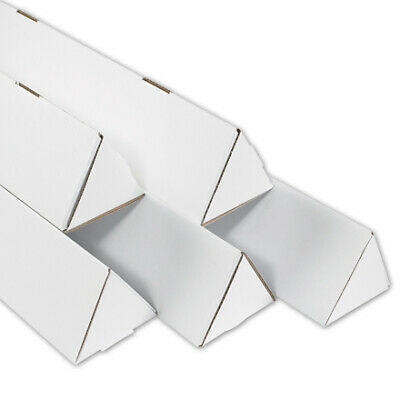 $122.20 • Buy 2 X 24 1/4  White Triangle Mailing Tubes ECT-32B - 100 Pieces