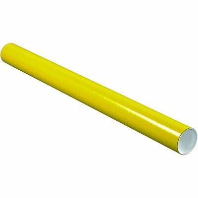 $123.42 • Buy BOX USA Yellow Mailing Tubes With Caps 3 Inch X 36 Inch Pack Of 24 For Shippi...