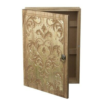 £13.99 • Buy Gold Wooden Key Cupboard Wall Or Tabletop