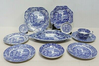 £29.95 • Buy Vintage COPELAND SPODE ITALIAN Blue & White Collection Plates Dish Cup - 232