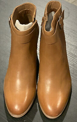 £34.99 • Buy Clarks Tan Buckle Strap Leather Ankle Boots ~ Size 5 ~ NEW (With Defects)