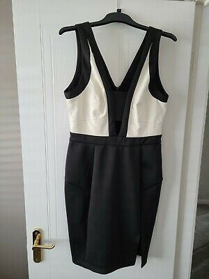 £7.50 • Buy Gorgeous Black And White Lipsy Love Michelle Keegan Dress Size 14