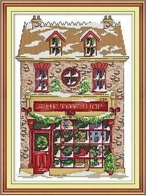 £9.99 • Buy CHRISTMAS TOY SHOP COUNTED CROSS STITCH KIT 14 COUNT AIDA FINISHED SIZE 29x38CM
