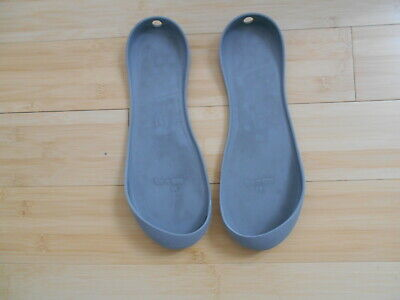 $6.86 • Buy Mahabis Grey Rubber Soles For Mahabis Slippers - Size 39/UK6