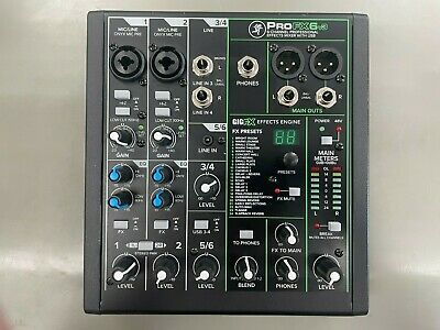 $119 • Buy Mackie 6 Channel Professional Effects Mixer With USB ProFX6V3