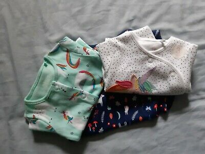 £3 • Buy NEXT And MINI CLUB 3  Pyjamas NEW With Unicorn 2 New Born And 1 Age 3 To 6 Mths