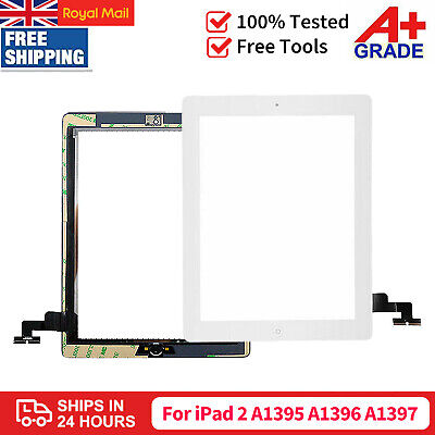 £9.99 • Buy White For IPad 2 A1395 A1396 A1397 Screen Replacement Glass Touch Digitizer +IC