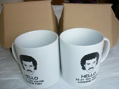 £8.50 • Buy 2 Lionel Richie Mug. Hello Is It Tea You're Looking For? With Boxes
