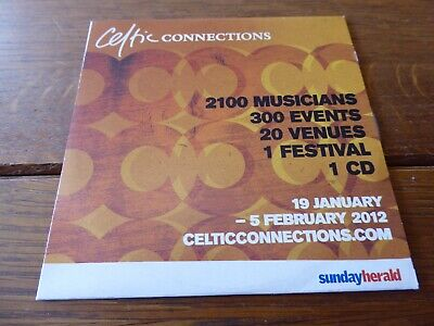 £2 • Buy CELTIC CONNECTIONS CD 2012 Promo Gerry Rafferty Manran King Creosote Rab Noakes