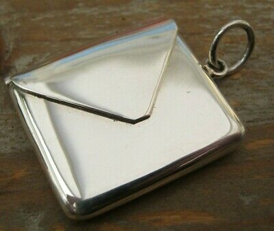 £0.99 • Buy Beautiful Victorian Style Hallmarked Sterling Silver Envelope Stamp Case Holder