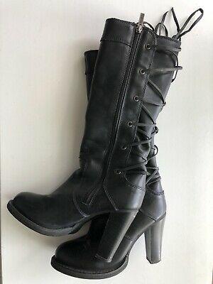$ CDN30.46 • Buy Harley Davidson Womens 6 Heeled Lace Up Boots Sexy Black Leather
