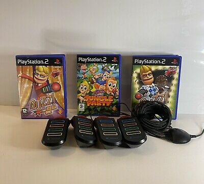 £24.99 • Buy Buzz Ps2 Quiz Game Bundle And Buzzers Sony PlayStation 2 Gaming Tested Working