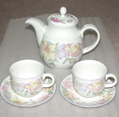 £12.50 • Buy Royal Doulton  Expressions    Blooms Teapot & 2 Cups & Saucers