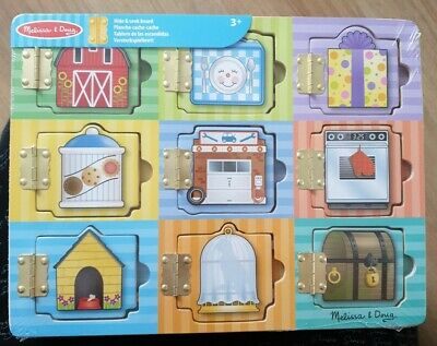 £8 • Buy Melissa & Doug Hide And Seek Wooden Activity Board With Wooden Magnets
