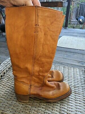 $79.99 • Buy 00Vintage FRYE Black Label Campus Brown / Tan Boots, Size 10 B Made In USA