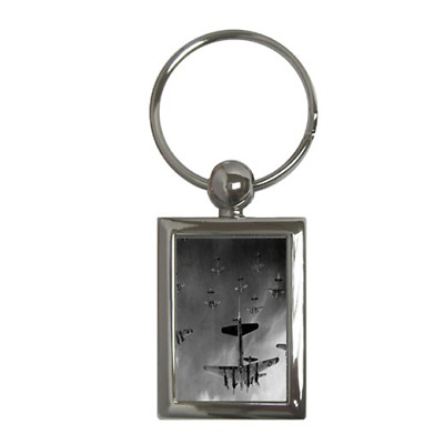 £5.99 • Buy B17 Flying Fortresses Over Germany Ww2 Rectangle Metal Keychain Double Sided