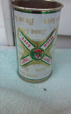 $1.25 • Buy 12OZ MILLER HIGH LIFE  FLAT TOP TOPS NO BOTTOM CHEAP EMPTY BEER CAN CANS Up