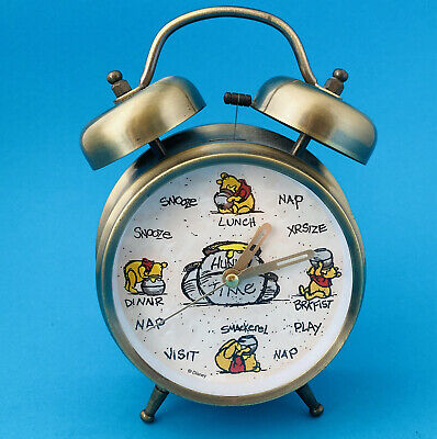 £7.32 • Buy Winnie The Pooh Alarm Clock Hunny Time Twin Bell Brushed Brass Disney World