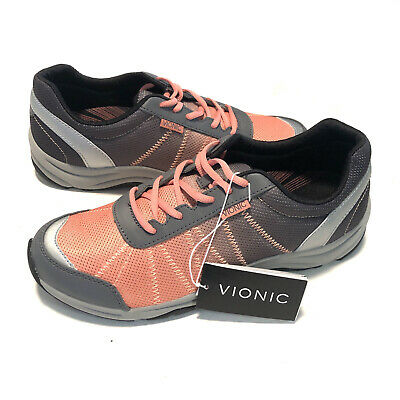 $ CDN62.56 • Buy Vionic Womens Alliance Sneakers Shoes Gray Coral Low Top Lace Up Size US 9W New