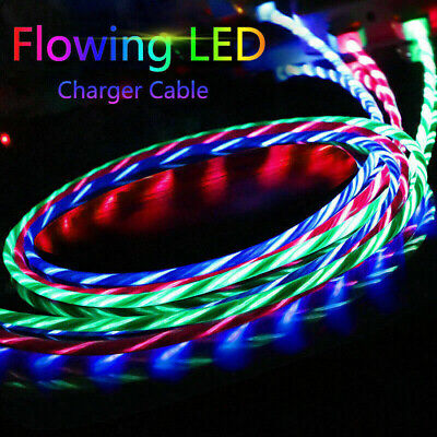 AU4.68 • Buy LED Flowing Light Up Fast Charge Charger Cable For IPhone SE 5 6 7 8 X XS Lead