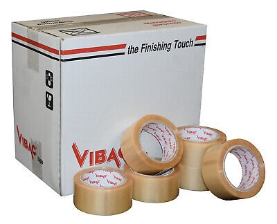 £81.20 • Buy Vibac Heavy Duty Clear Solvent Vinyl Adhesive Tape 48mm X 66m Qty 36