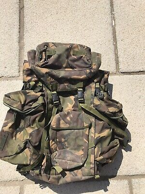 £15.10 • Buy British Army Bergen Backpack Rucksack DPM Camo Framed Bergan With Side Pouches