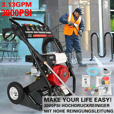 £209.88 • Buy Petrol Pressure Washer 3000PSI High Power Jet Powerful Wash Patio Car Cleaner