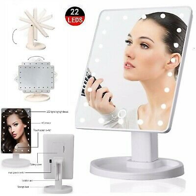 £9.89 • Buy Mirror Vanity 22 Led 10x Magnifying Cosmetic Lights Makeup Dressing Table Touch