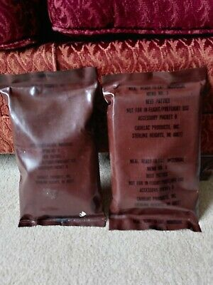 $30 • Buy Vintage Military 1980's 90's MRE Rations Lot Of 2 Sealed Brown Bags