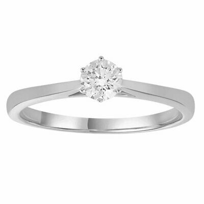 AU1679 • Buy Solitaire Ring With 0.33ct Diamonds In 9K White Gold -  IGR-38249-033-W