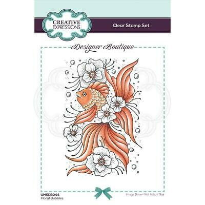 £7.50 • Buy Creative Expressions Designer Boutique Collection Floral Bubbles A6 Clear Stamp
