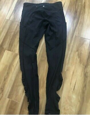 $ CDN13.86 • Buy Lululemon Speed Tight Luxtreme Ruched Black FITTED BOTTOMS SIZE 2 FULL LENGTH