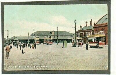 £3.55 • Buy Cheshire Wirral Birkenhead : Woodside  Ferry Animated Scene + Trams Posted 1908