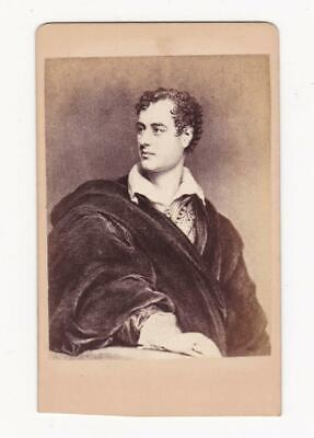 £3.99 • Buy LORD BYRON - CdV Photograph C.1870's - By T.W. CLARKE, Bookseller, MANSFIELD