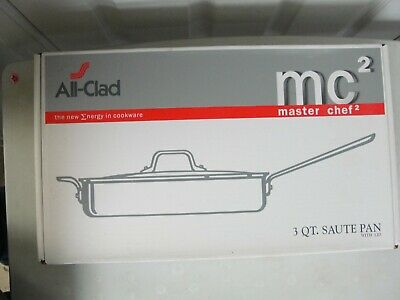 $ CDN125.87 • Buy All-Clad 3 Quart Sauce Pan With Lid - Master Chef 2 (MC2) Brand New In Box