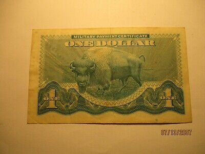 $21.50 • Buy $1  Military Payment Certificate Bison In VF+