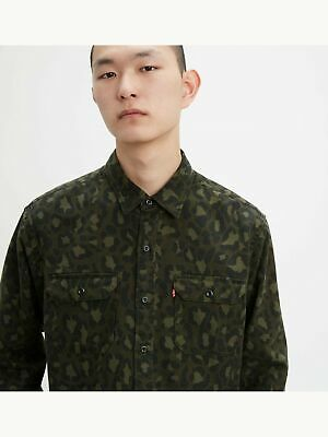 $11.99 • Buy LEVI'S Mens Green Camouflage Collared Classic Fit Dress Shirt L