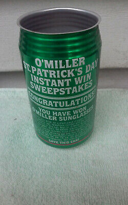 $0.99 • Buy 12OZ GREEN MILLER SUNGLASSES NO TOP ALUMINUM CHEAP EMPTY BEER CAN CANS Up