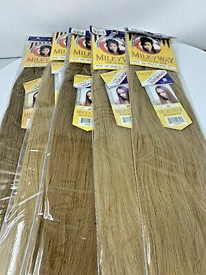$49 • Buy Milky Way 100% Human Hair  Gorgeous Straight  18' -  #27  Lot Of 5 Packs!!