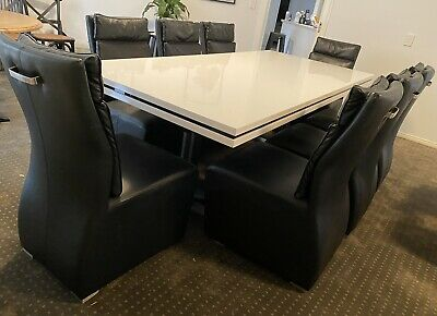 AU250 • Buy Dining Table And Chairs 9 Piece