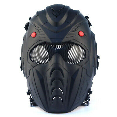 $32.49 • Buy Airsoft Paintball Tactical Mask Helmet Anti Fog Full Face CS Protective Military
